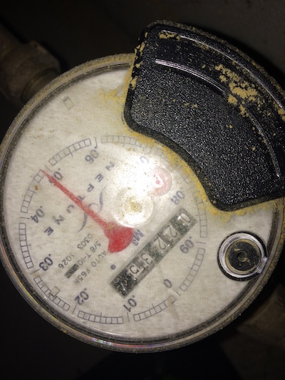 Crusty Water Meter
